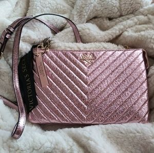 Victoria Secret Pink Sparkly Small Bag or Clutch